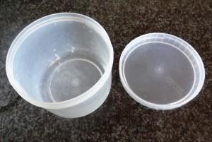 round Decor plastic container; 10cm diameter, 8cm hight