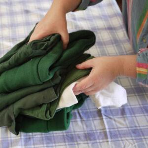photo of decluttering school clothing / uniforms