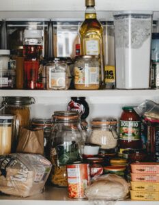 photo of a cluttered pantry waiting to be organised