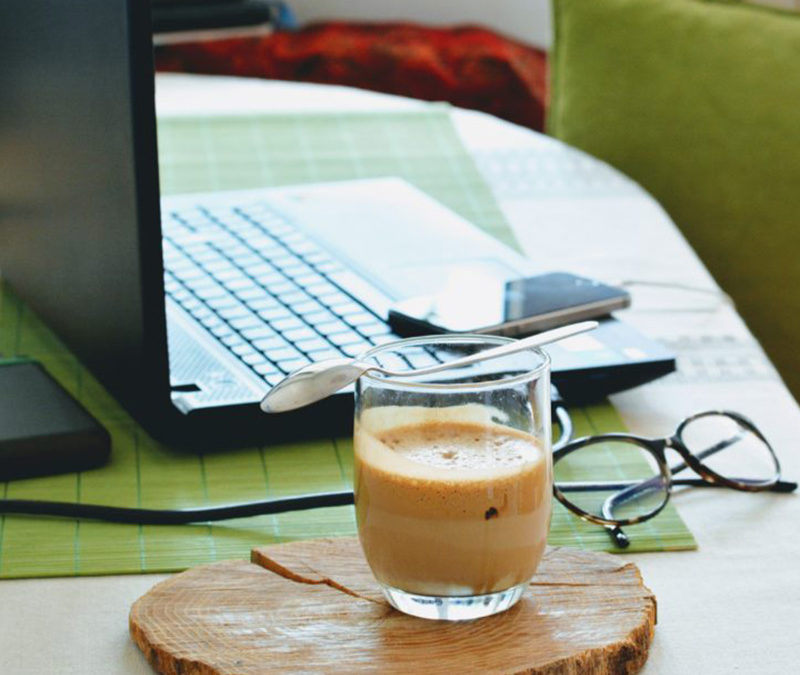 Work from home. Organise and sort your home office