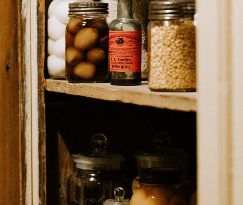 Image of a pantry storage. Declutter and Organise your Pantry
